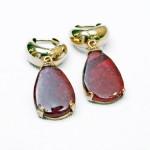 14K Ludralite Drop Earrings