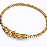 22K Hinged Bangle Style Bracelet