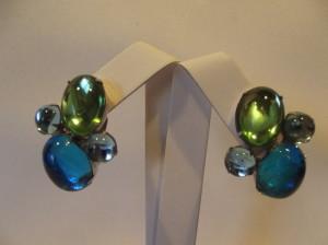 Vintage 'Carnegie' Jelly Earrings
