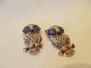 Pair of Vintage 'Coro' Owl Dress Clips