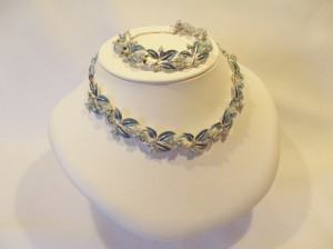 Vintage 'Coro' Enamel & Bead Bracelet/Necklace Set