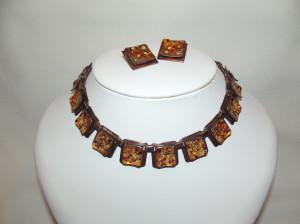 Vintage 'Matisse' Enamelled Earring/Necklace Set