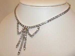 Vintage Rhinestone Swag Necklace